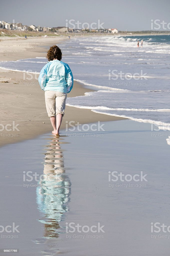Beach Walk in South Carolina stock photo