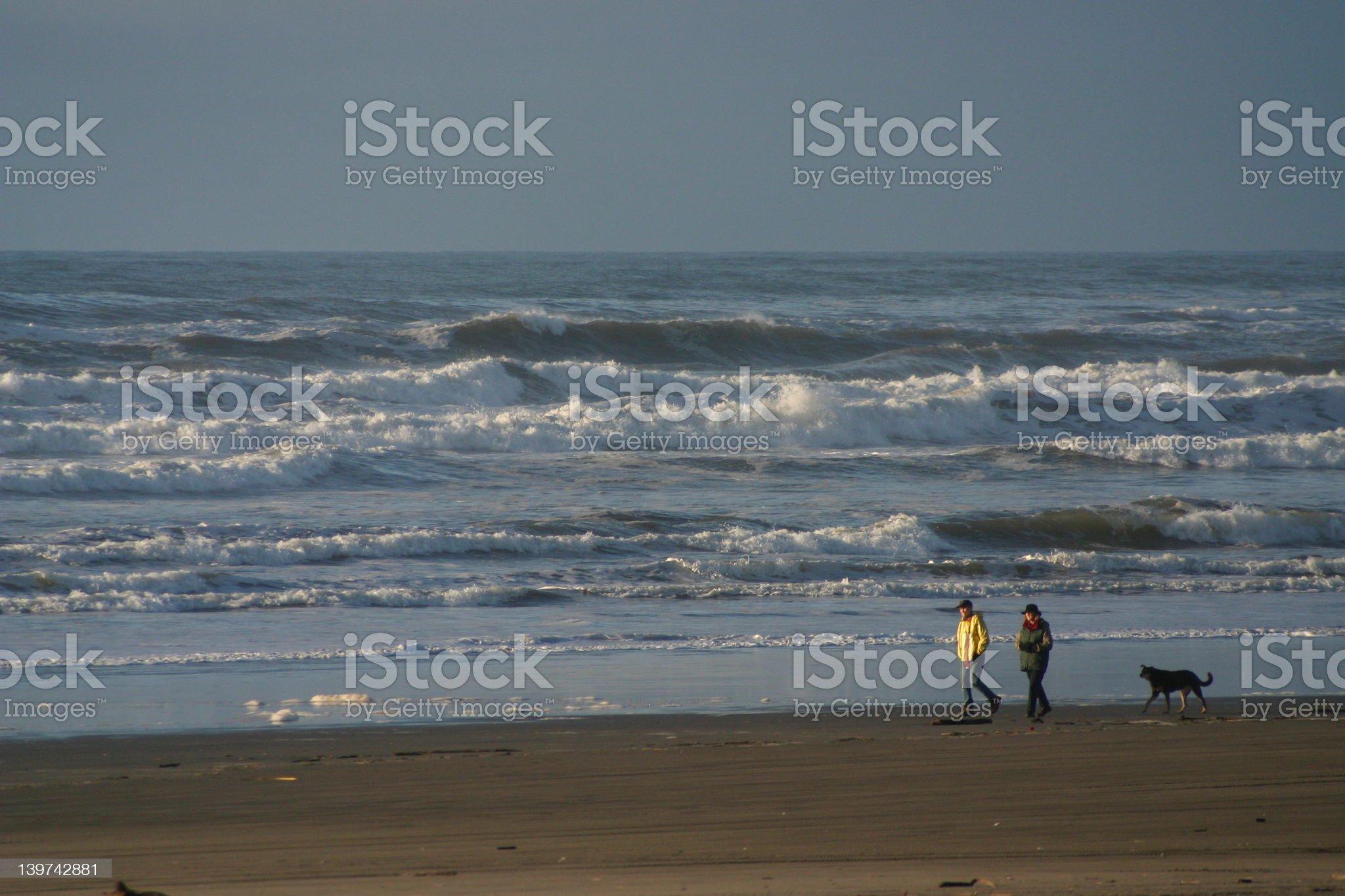 beach walk royalty-free stock photo