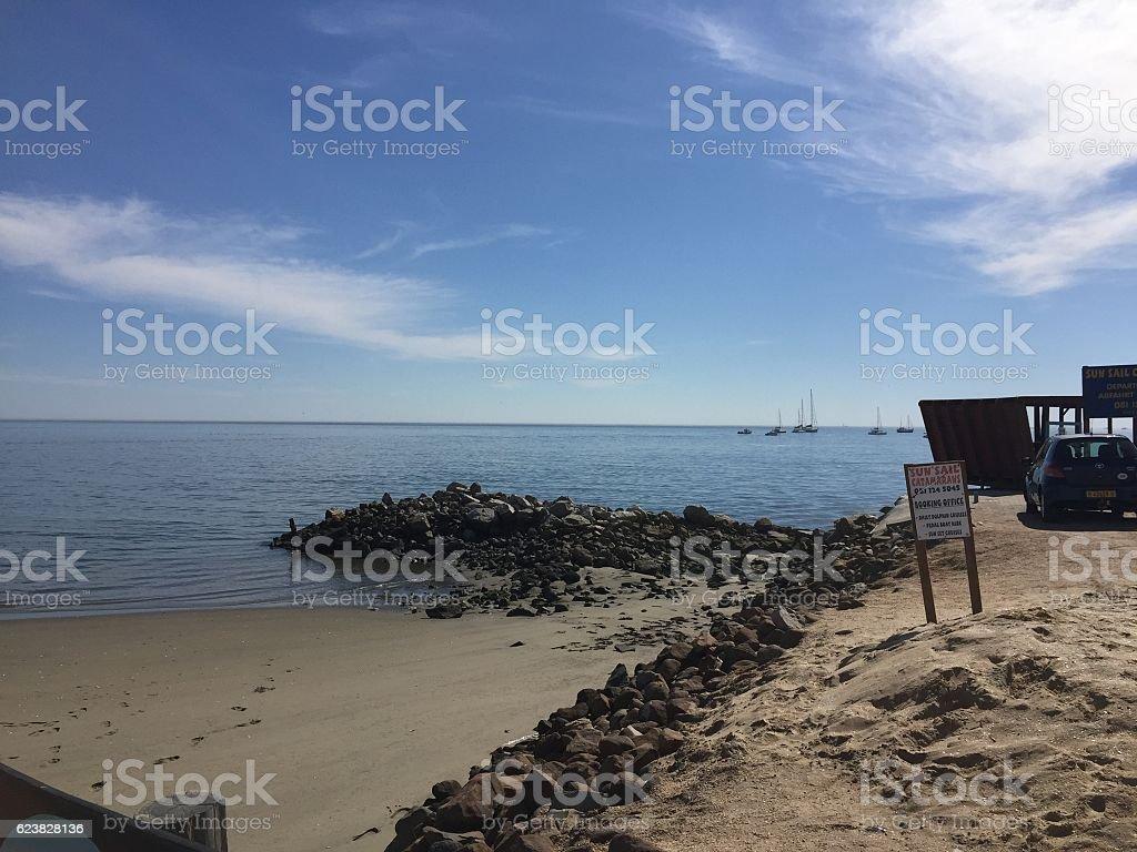 Beach Walvis Bay stock photo