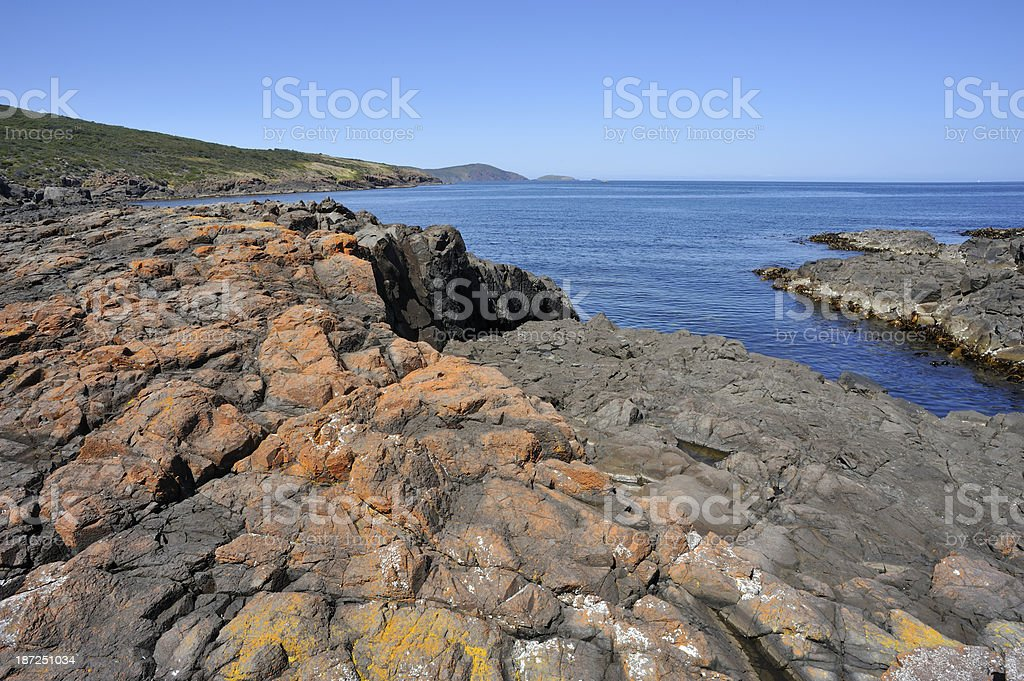 Beach Water in Bruny Island, royalty-free stock photo