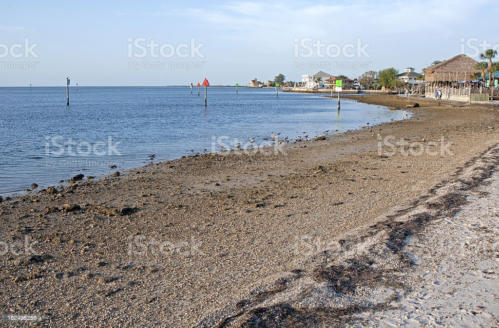 Beach waterfront royalty-free stock photo