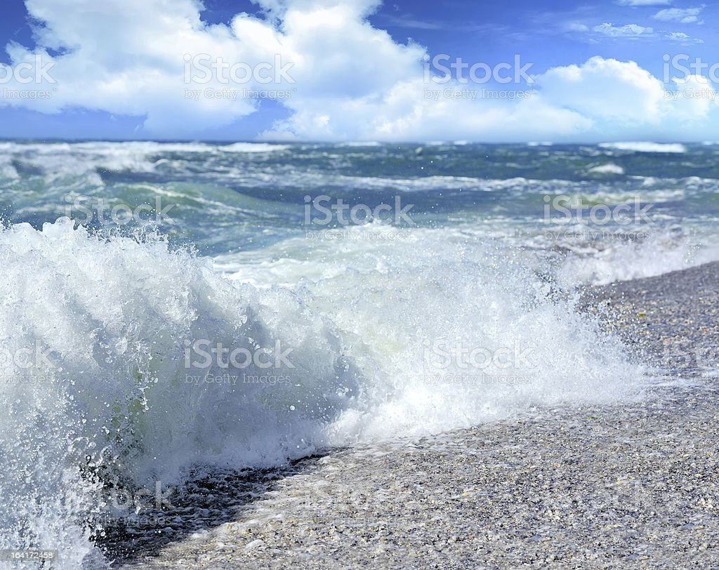 Beach Wave royalty-free stock photo
