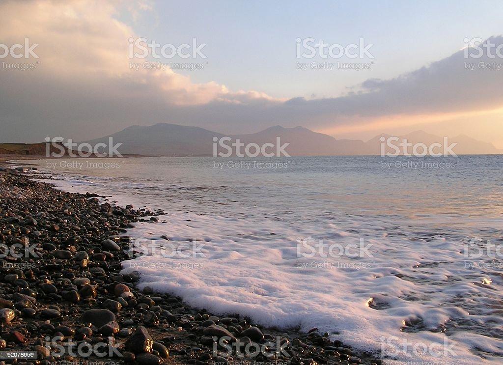 Beach wave royalty-free stock photo