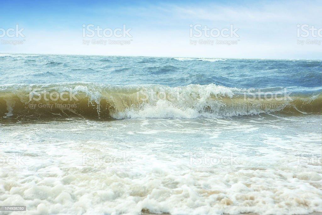 Beach Waves royalty-free stock photo