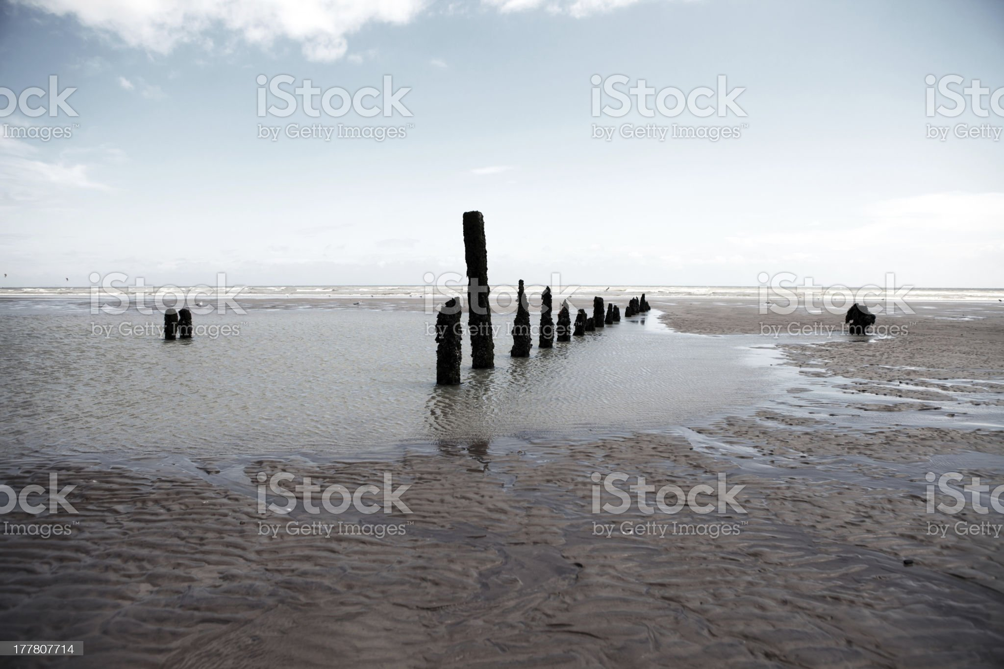 Beach weather coast winchelsea england royalty-free stock photo