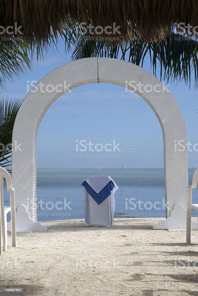 Beach Wedding Altar stock photo