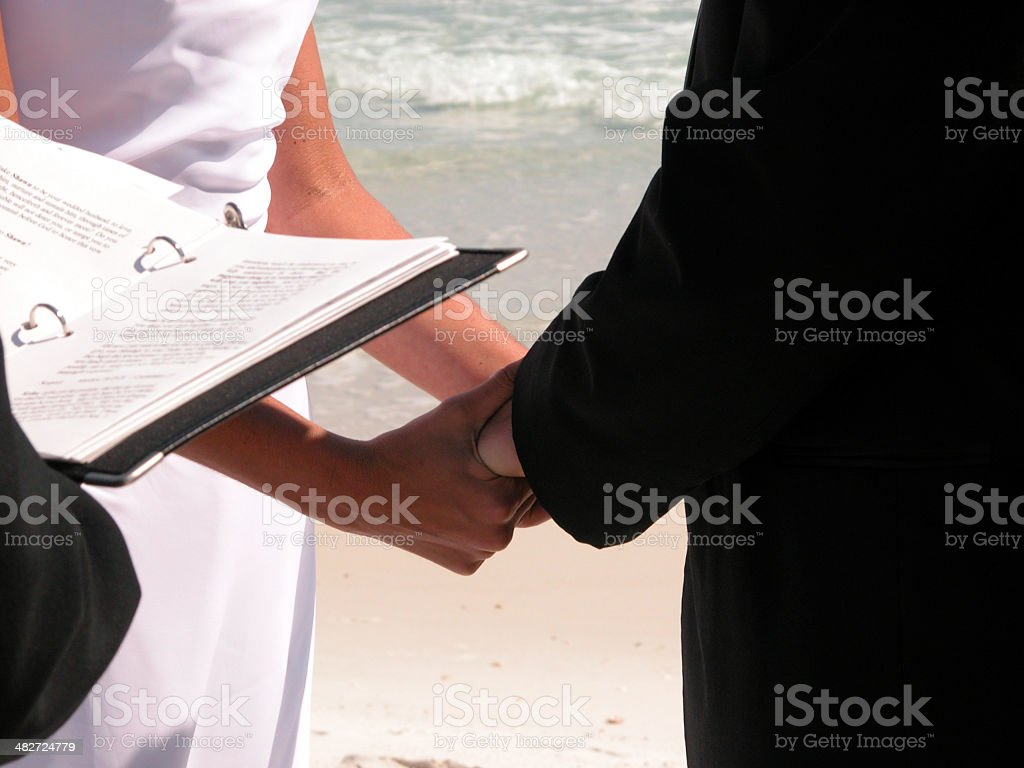 Beach Wedding Ceremony royalty-free stock photo