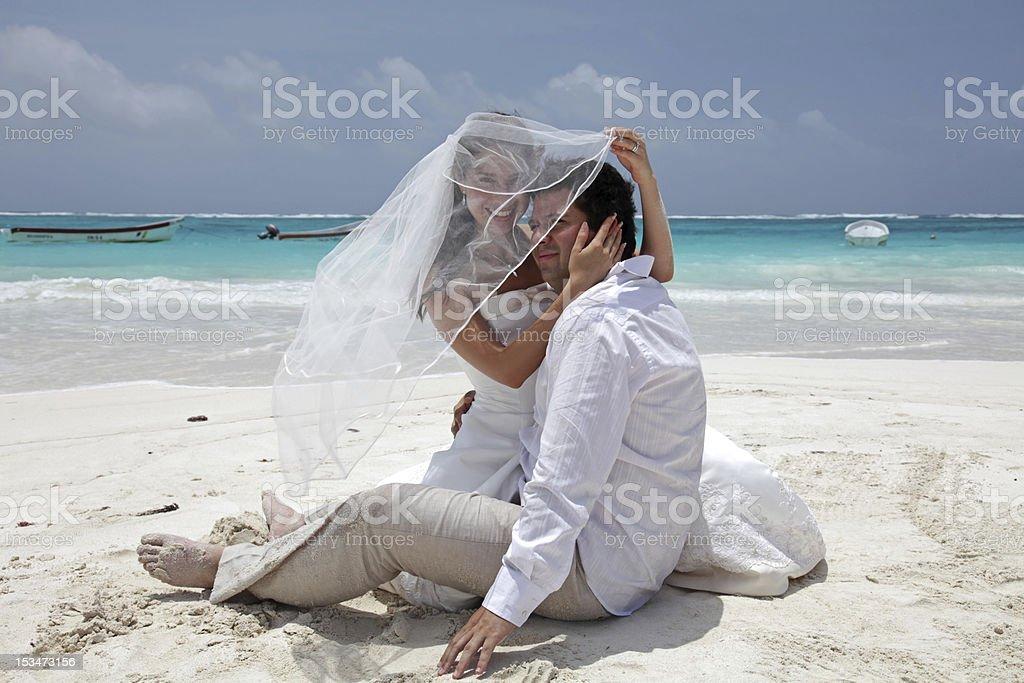 Beach Wedding royalty-free stock photo