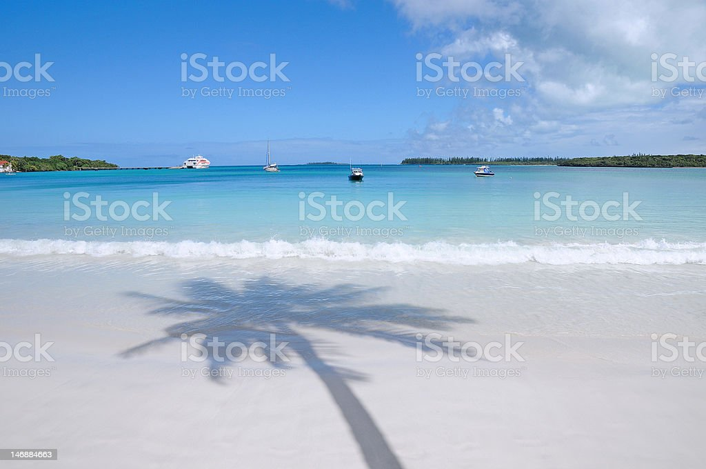 Plage sable blanc mer turquoise stock photo