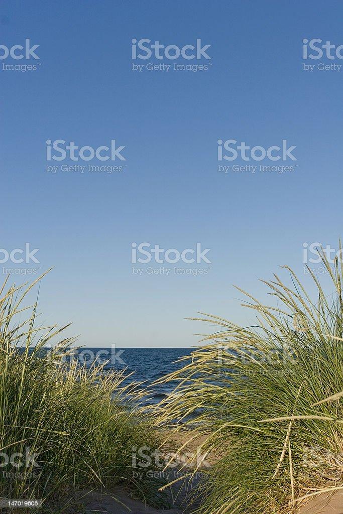 Plage et l'Horizon et ciel photo libre de droits