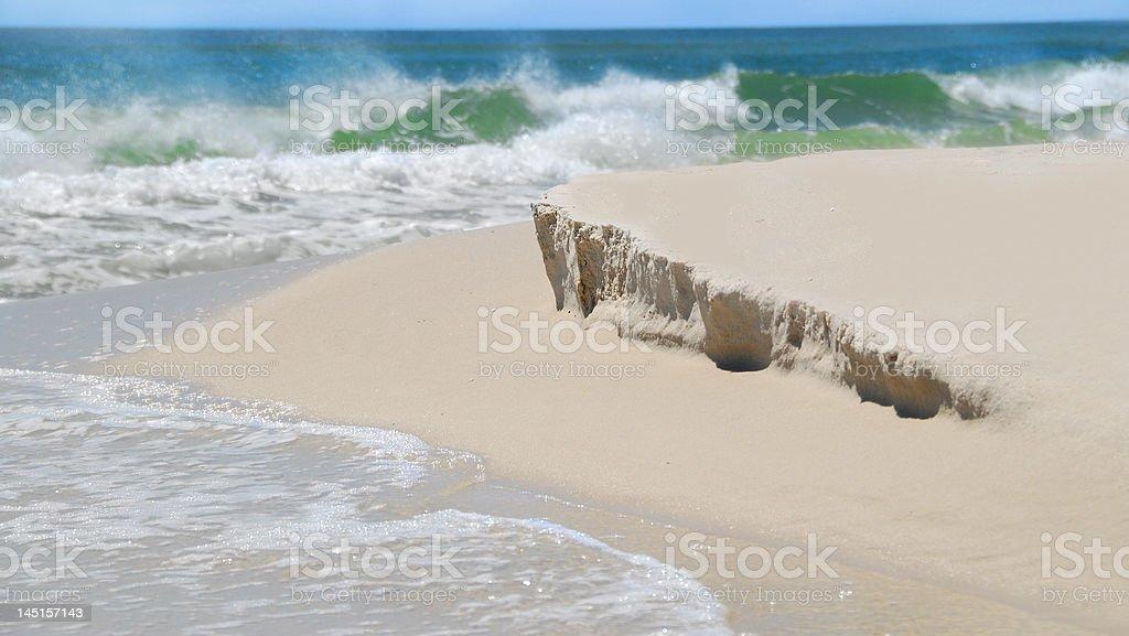 Beach with Mild Sand Dune Erosion stock photo