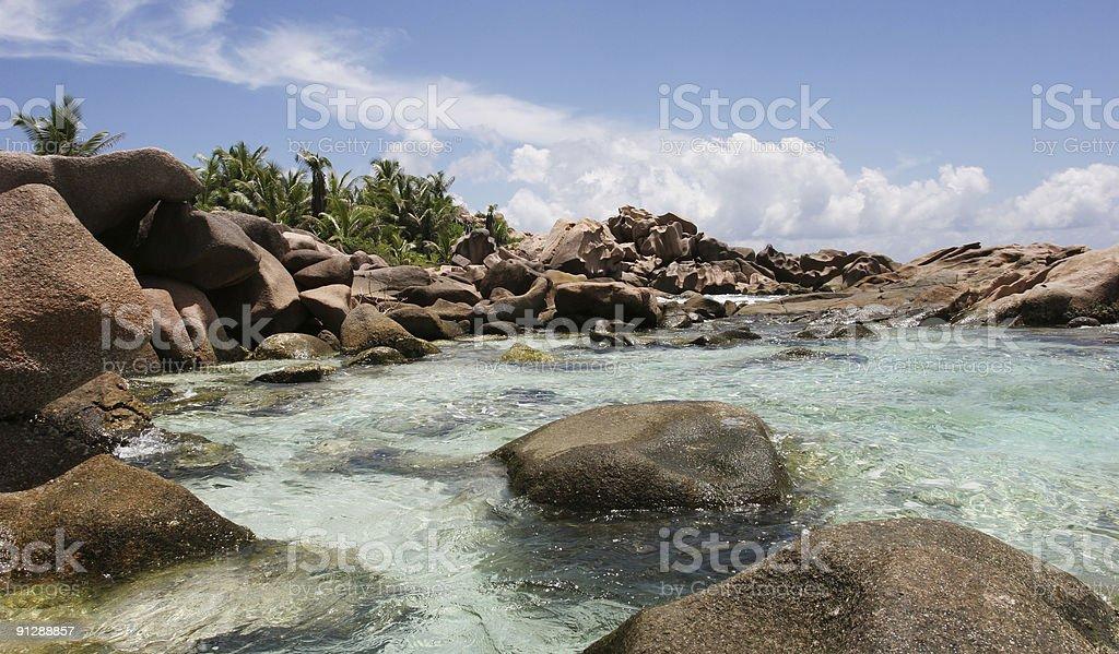 Beach with Rocks royalty-free stock photo