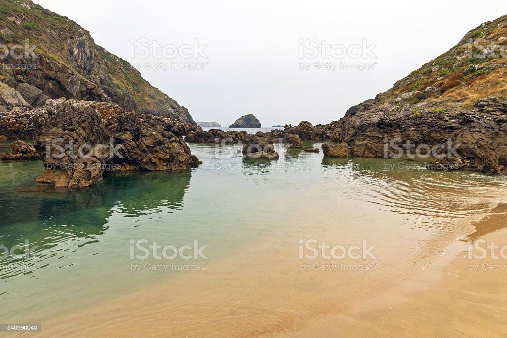 Beach with Rocks - Playa con Rocas stock photo