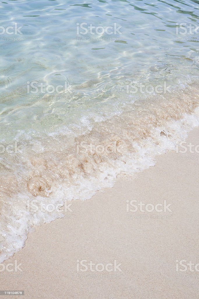 Beach with waves. royalty-free stock photo