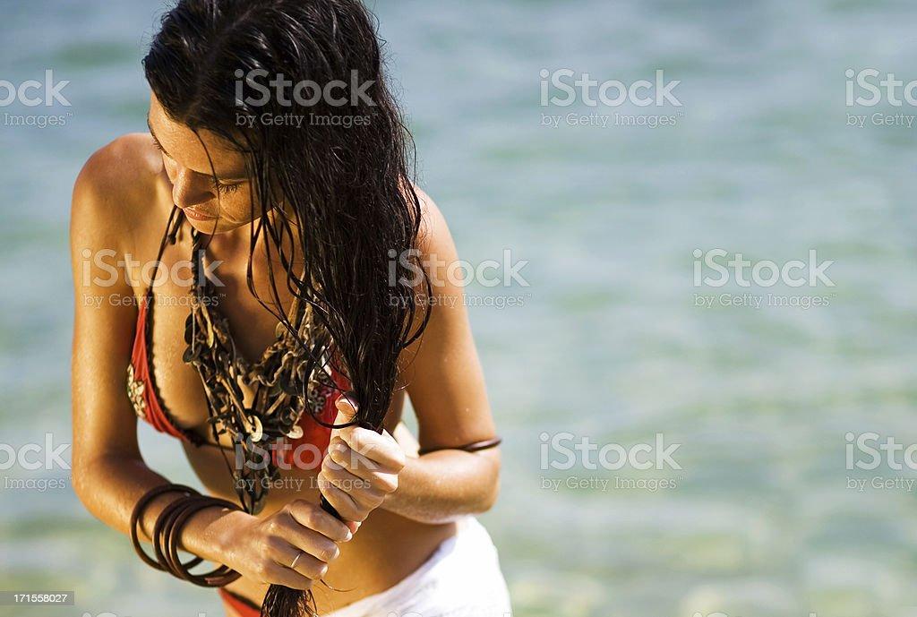 Beach Woman royalty-free stock photo
