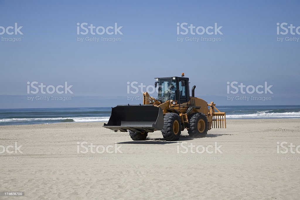 Beach Work royalty-free stock photo