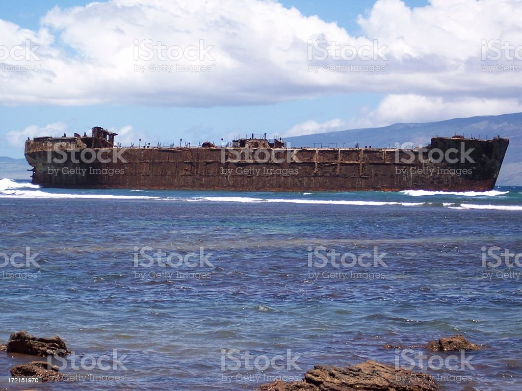 Beach Wreck royalty-free stock photo