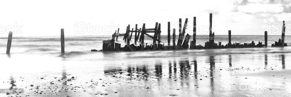 Beach Wreck stock photo