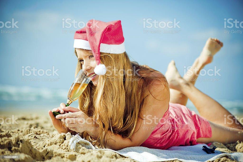 Beach Xmas royalty-free stock photo