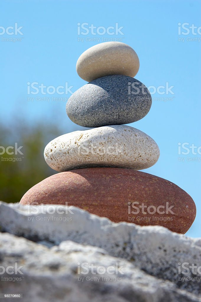 Beach Zen 2 royalty-free stock photo