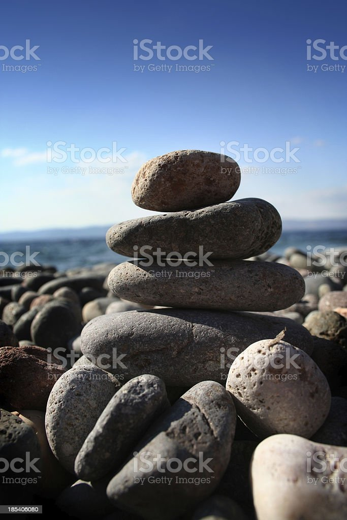 Beach zen royalty-free stock photo