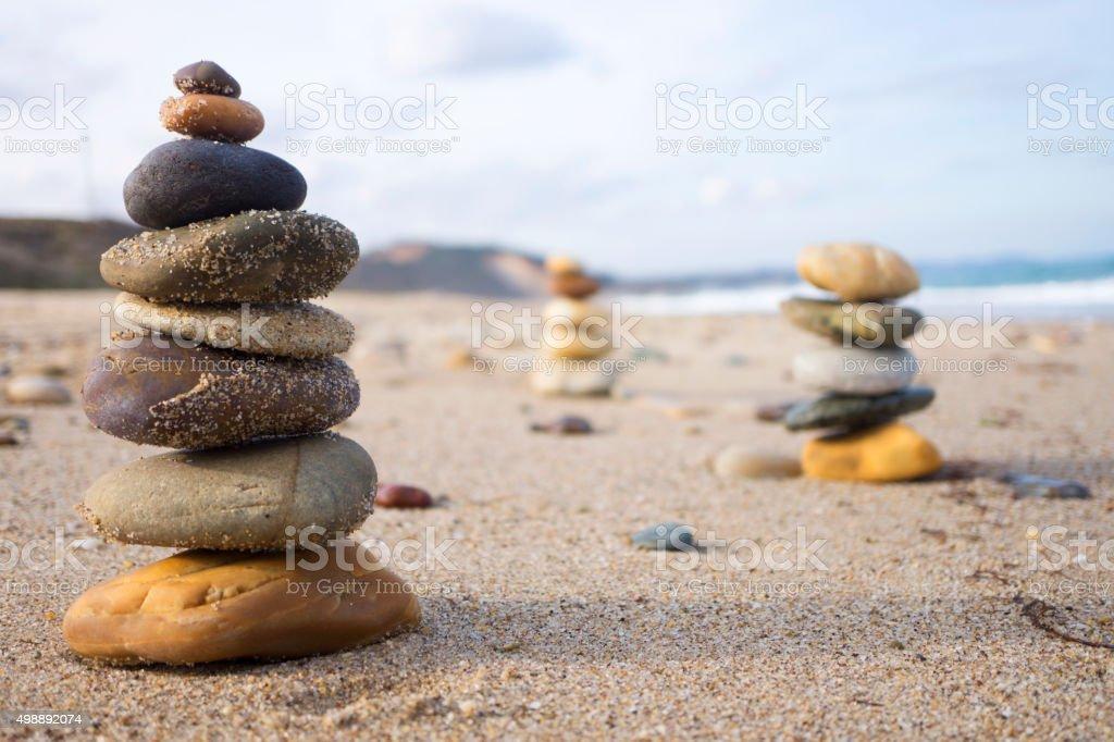 Beach Zen stock photo