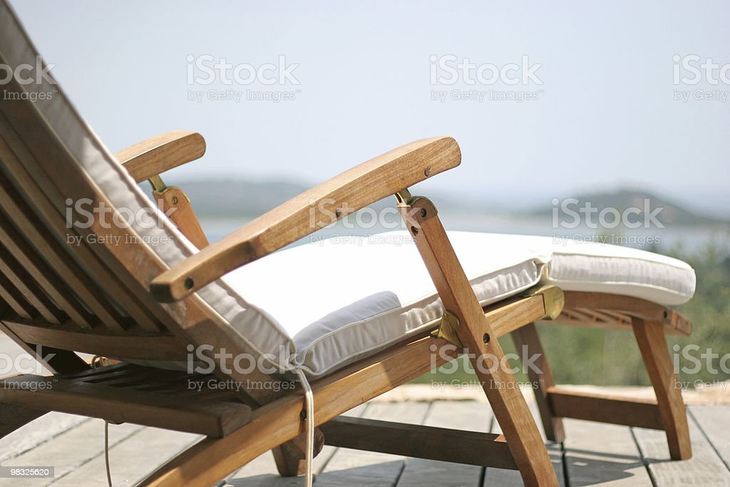 Beachchair royalty-free stock photo