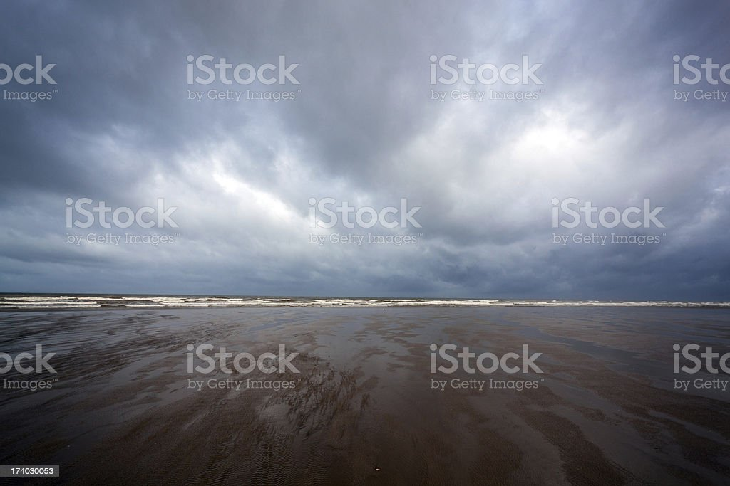 beach,dark clouds royalty-free stock photo