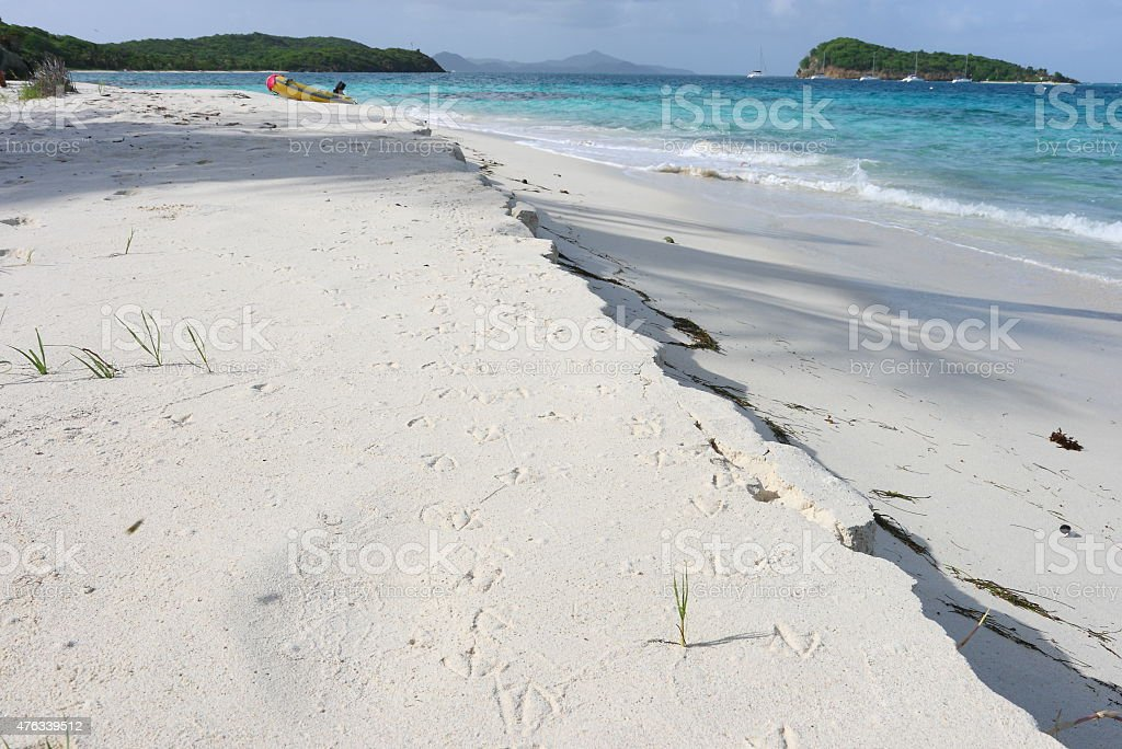 Beache Tobago Cays St Vincent and the grenadines Caribbean stock photo