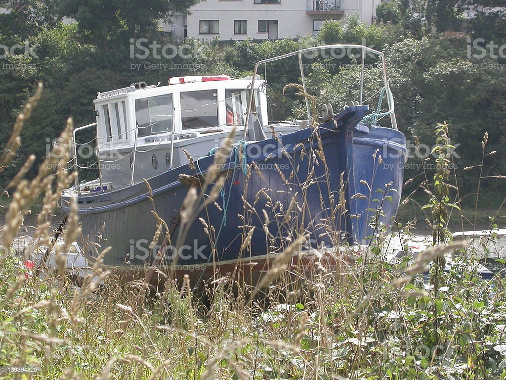 Beached Boat 01 royalty-free stock photo