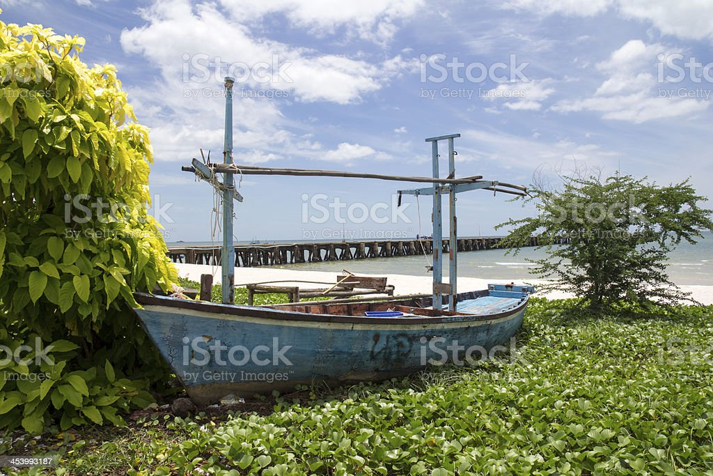 Beached boat royalty-free stock photo