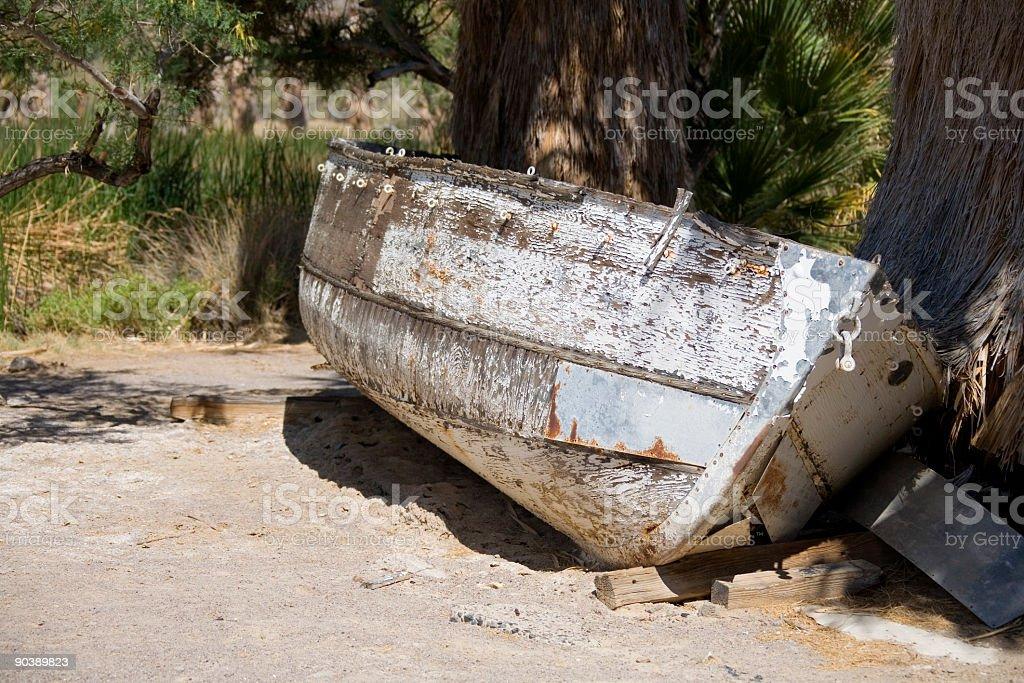 Arenato barca foto stock royalty-free