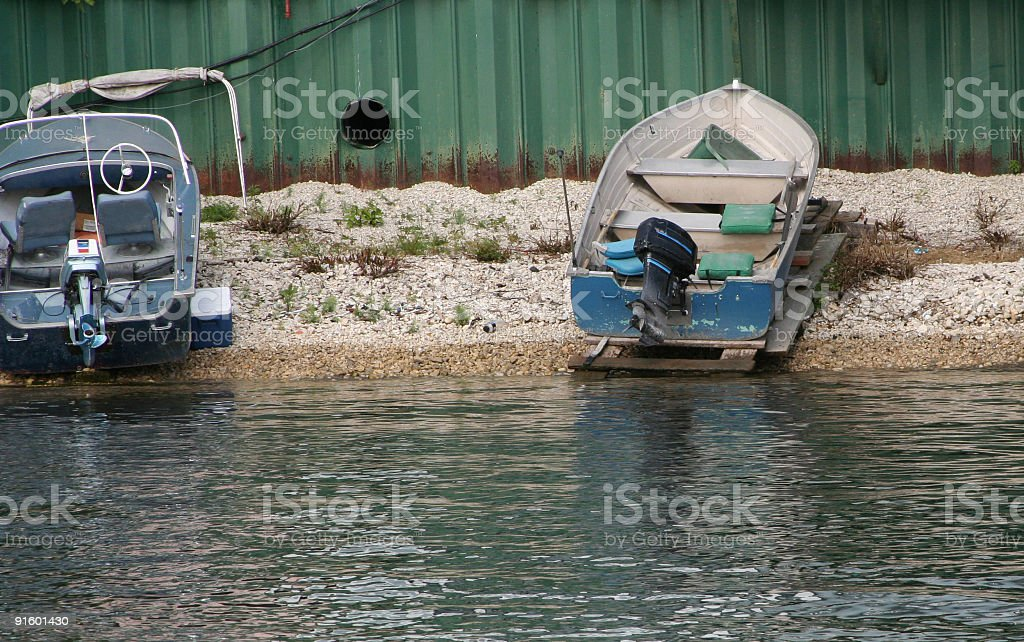 Beached Boats royalty-free stock photo