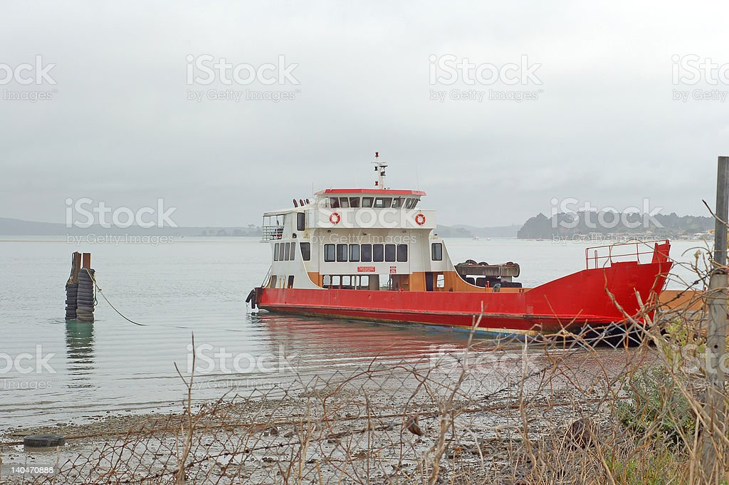 Beached car ferry royalty-free stock photo
