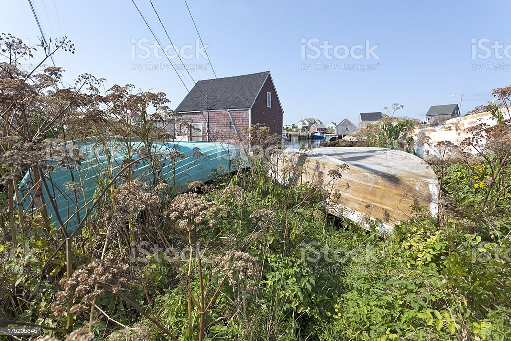 Beached Dories royalty-free stock photo