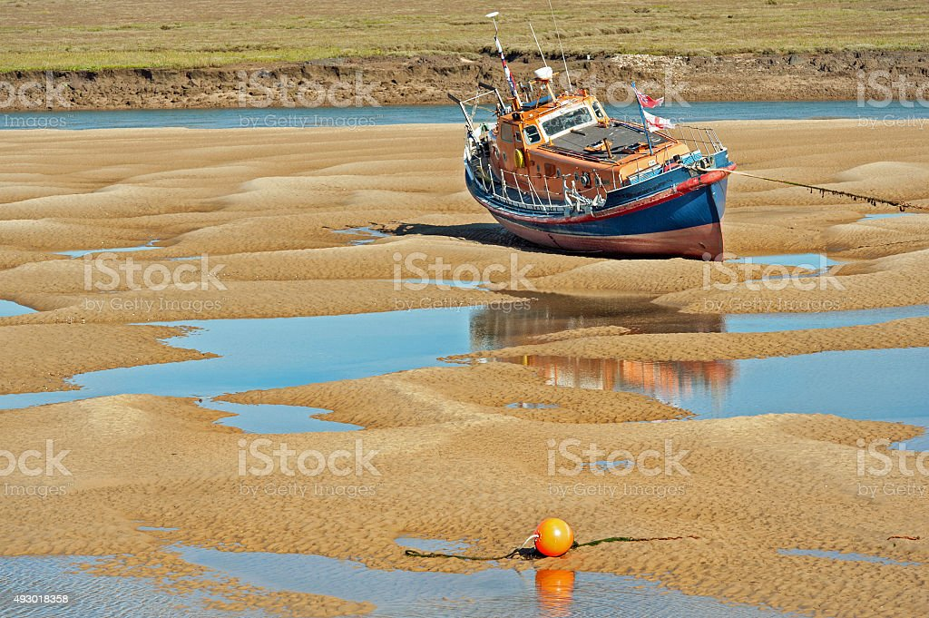 Beached Lifeboat stock photo