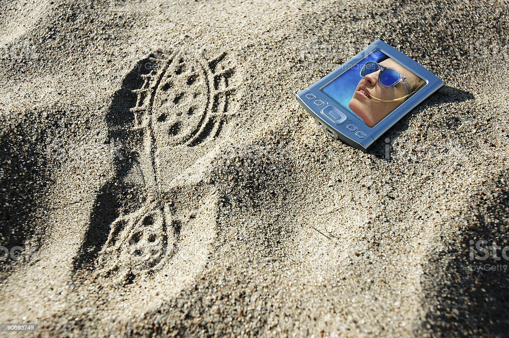 beached pda6a - path included royalty-free stock photo