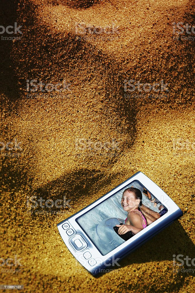 beached pda9 royalty-free stock photo