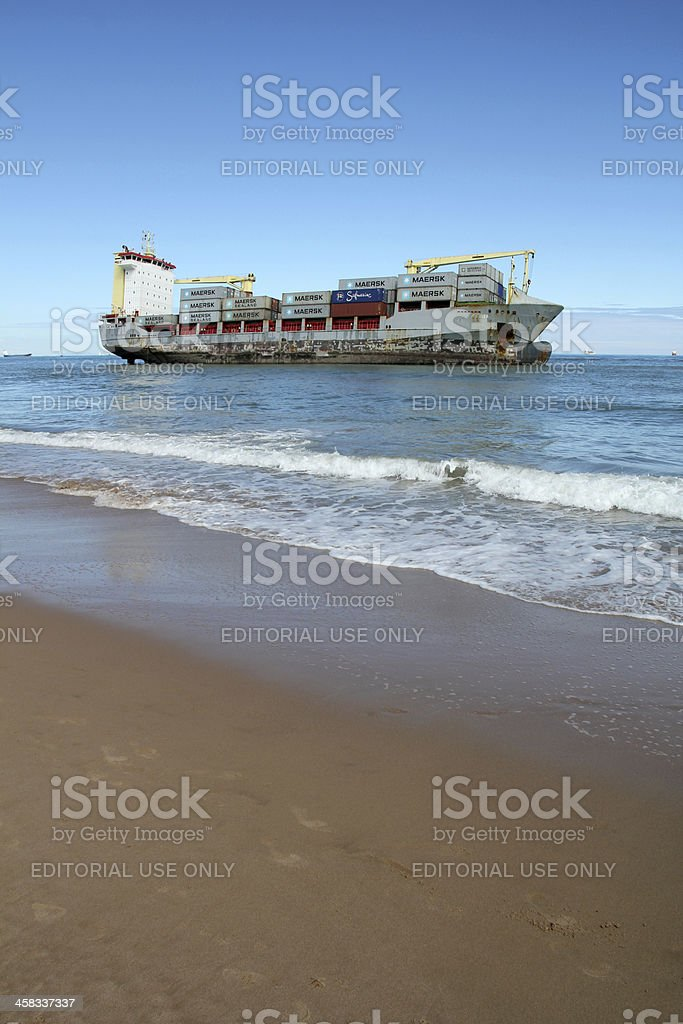 Beached ship royalty-free stock photo
