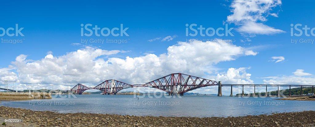 Beaches and bridges royalty-free stock photo
