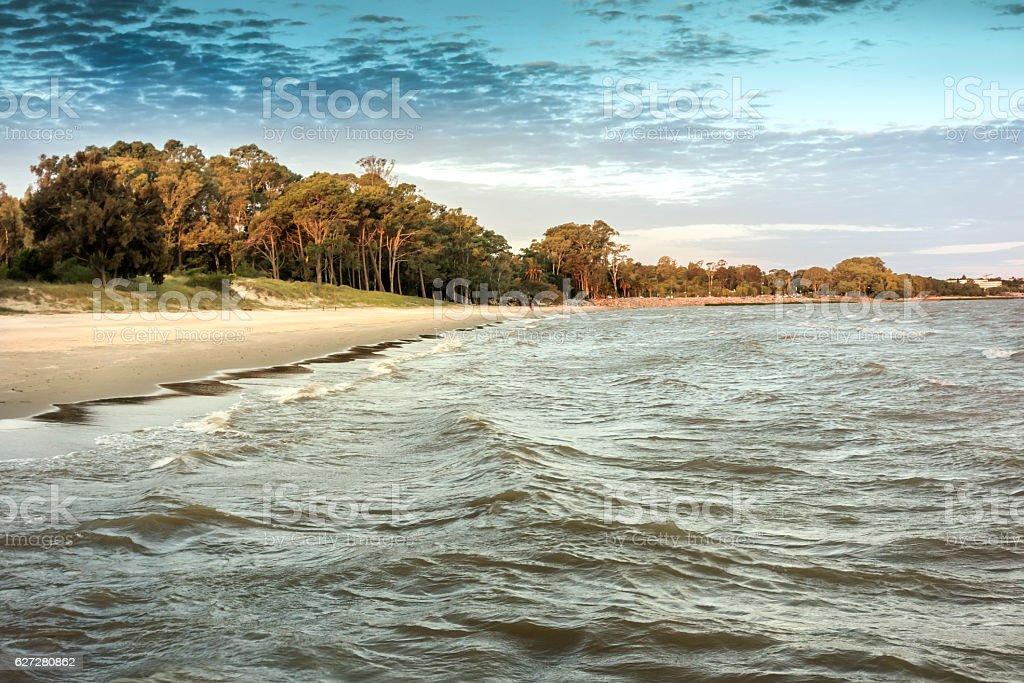 Beaches at Rio de la Plata, Uruguay stock photo