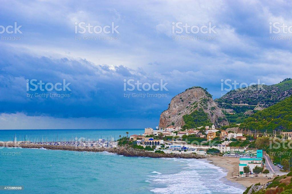 Beaches near Barcelona, Spain stock photo