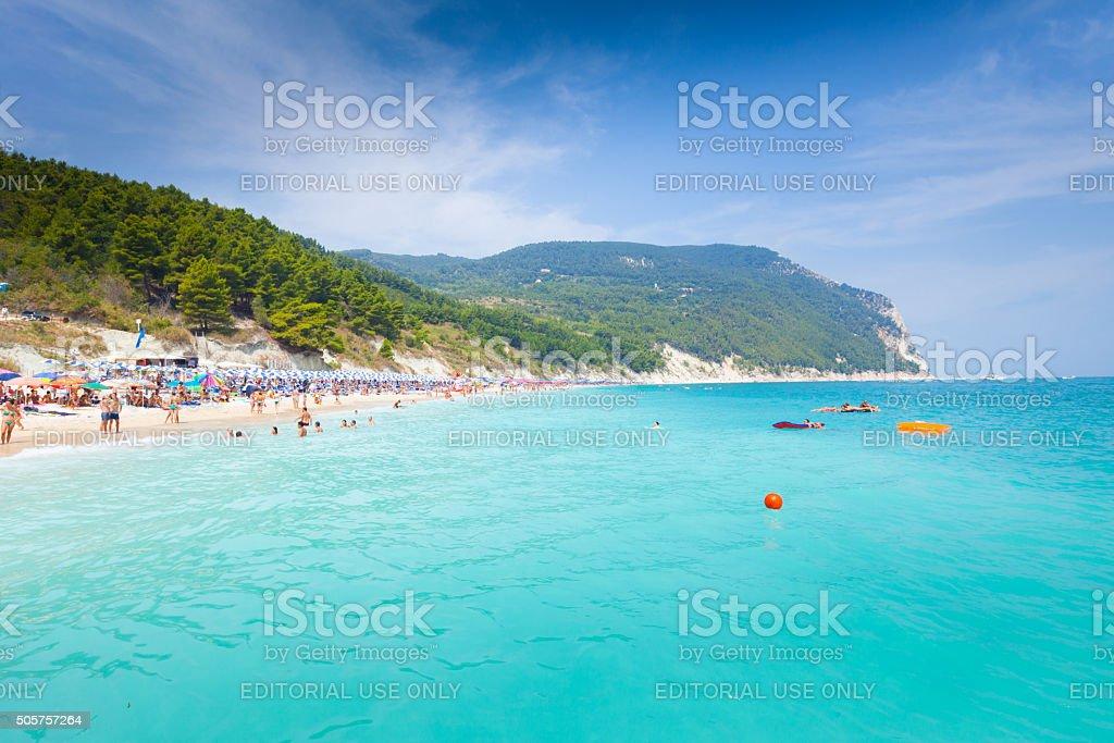 Beaches of Monte Conero stock photo