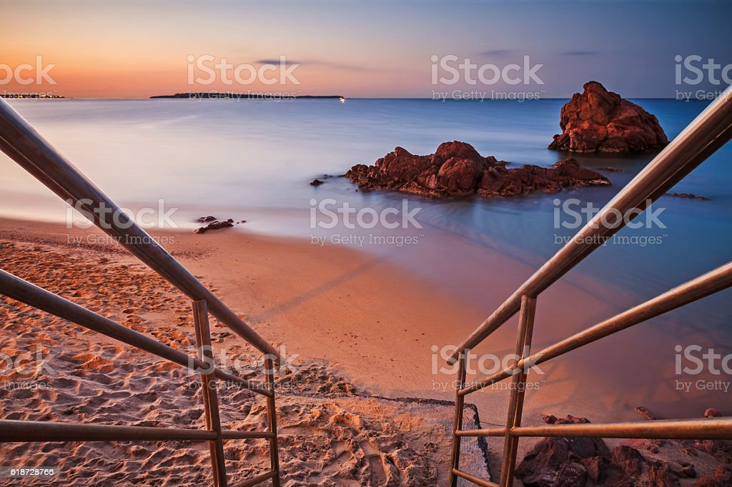 Beaches of the French Riviera stock photo
