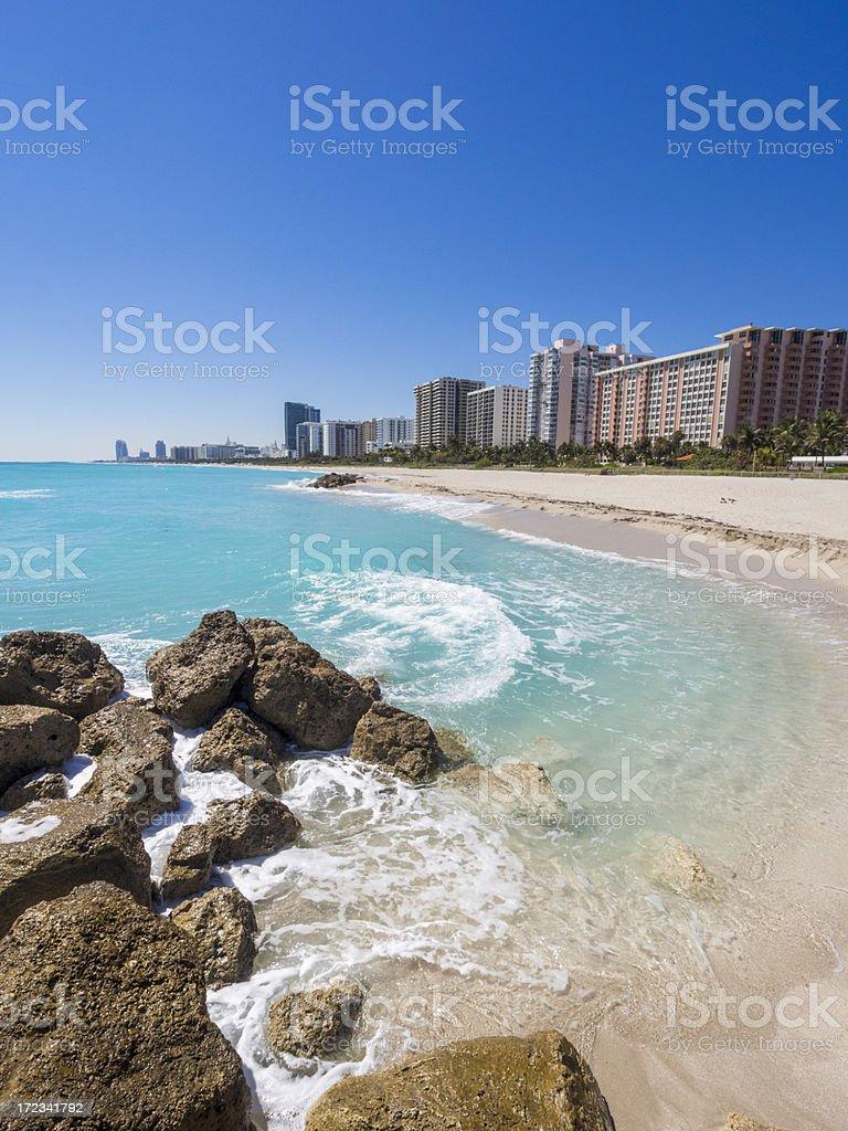 Beachfront Concos in Miami South Beach royalty-free stock photo