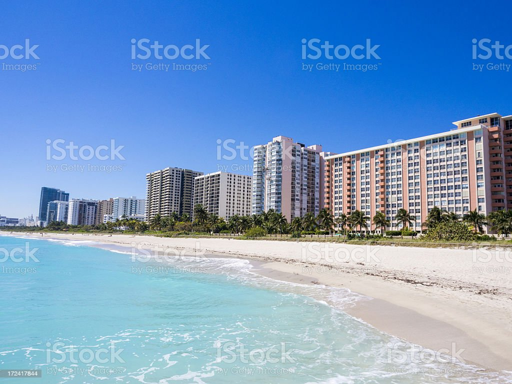 Beachfront Concos in Miami South Beach royalty-free stock photo