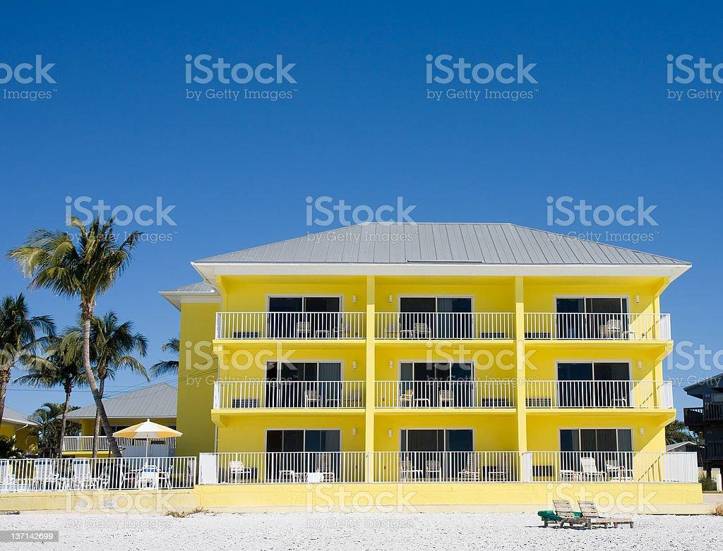 Beachfront Condominium, Florida stock photo