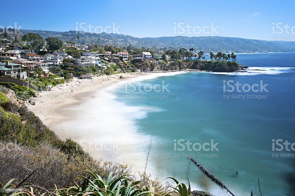 Beachfront cove stock photo