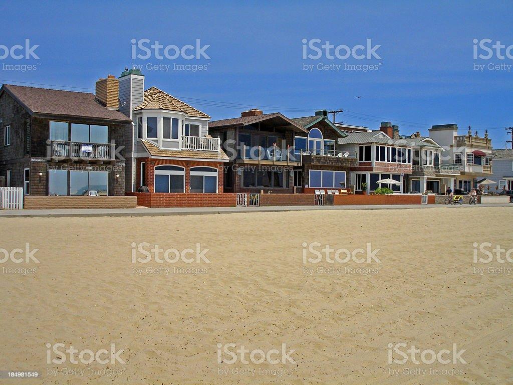 Beachfront Living stock photo
