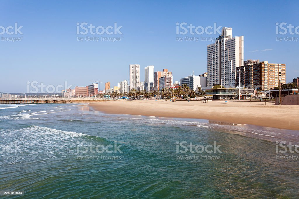 beachfront of Durban, South Africa stock photo